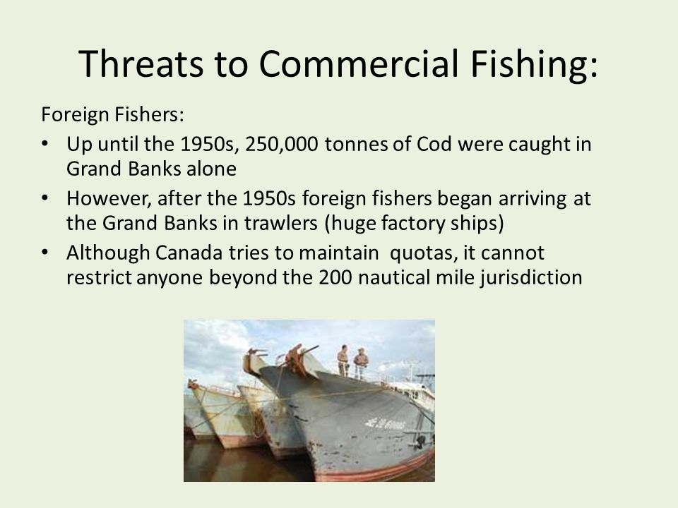 Threats to Commercial Fishing: