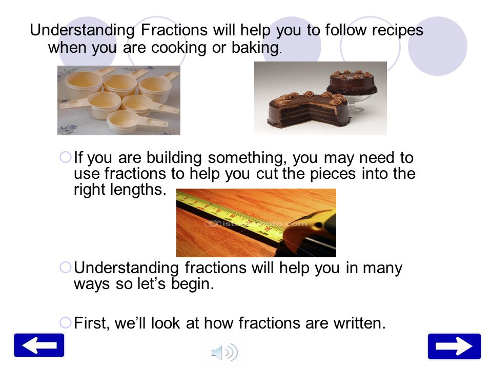 Understanding Fractions Will Help You To Follow Recipes When Are Cooking Or Baking
