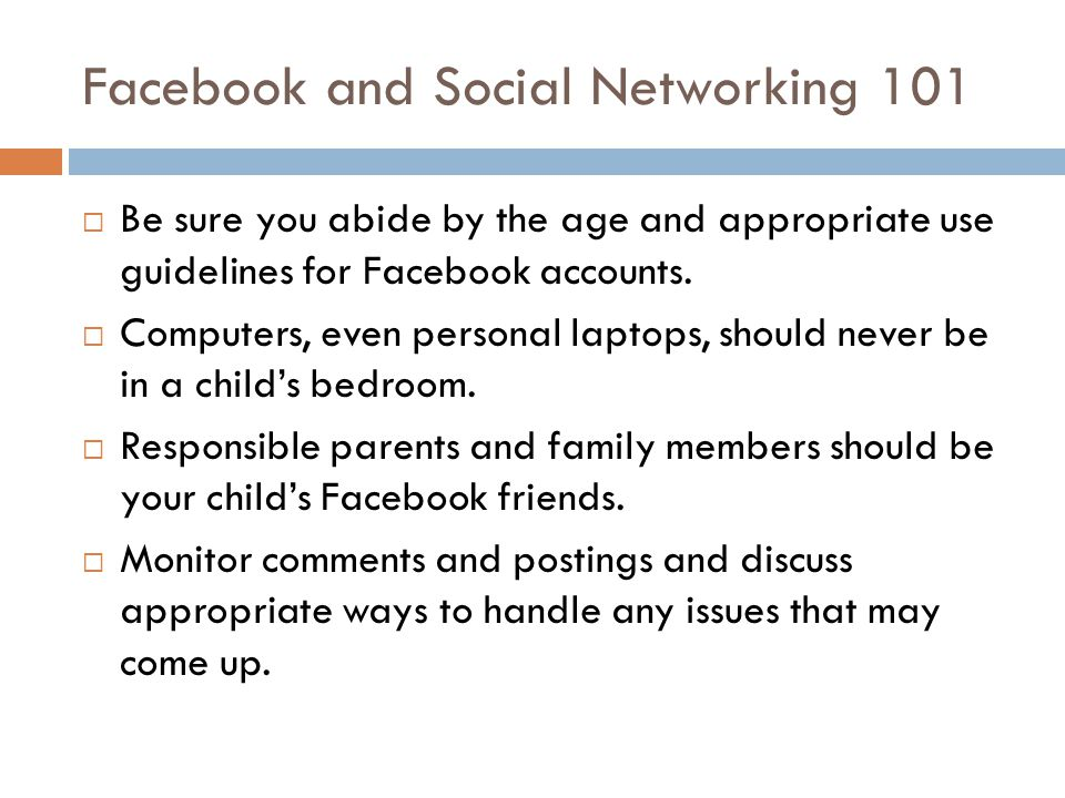 Facebook and Social Networking 101