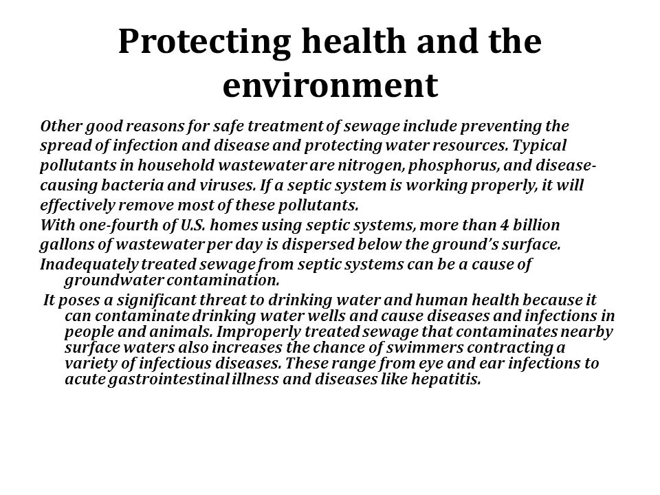 Protecting health and the environment