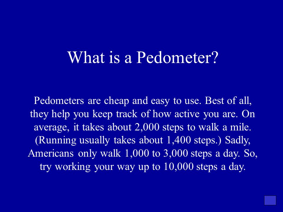 What is a Pedometer