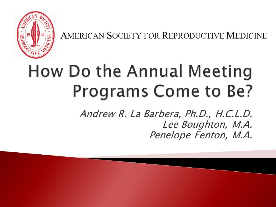 How Do the Annual Meeting Programs Come to Be