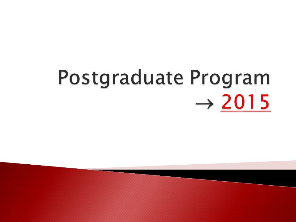 Postgraduate Program  2015