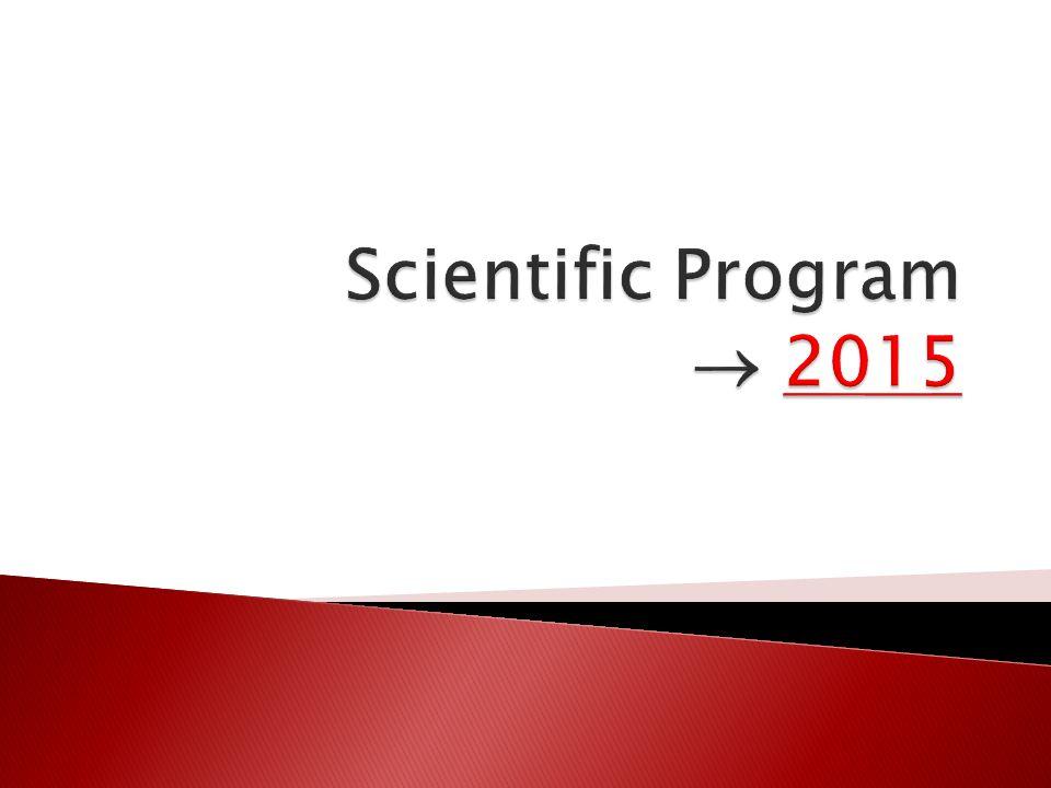 Scientific Program  2015