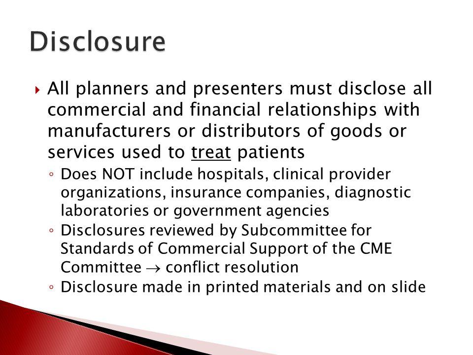 Disclosure