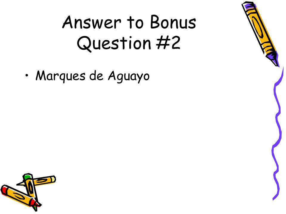Answer to Bonus Question #2