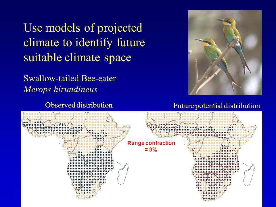 Use models of projected climate to identify future suitable climate space