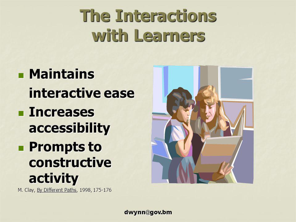The Interactions with Learners