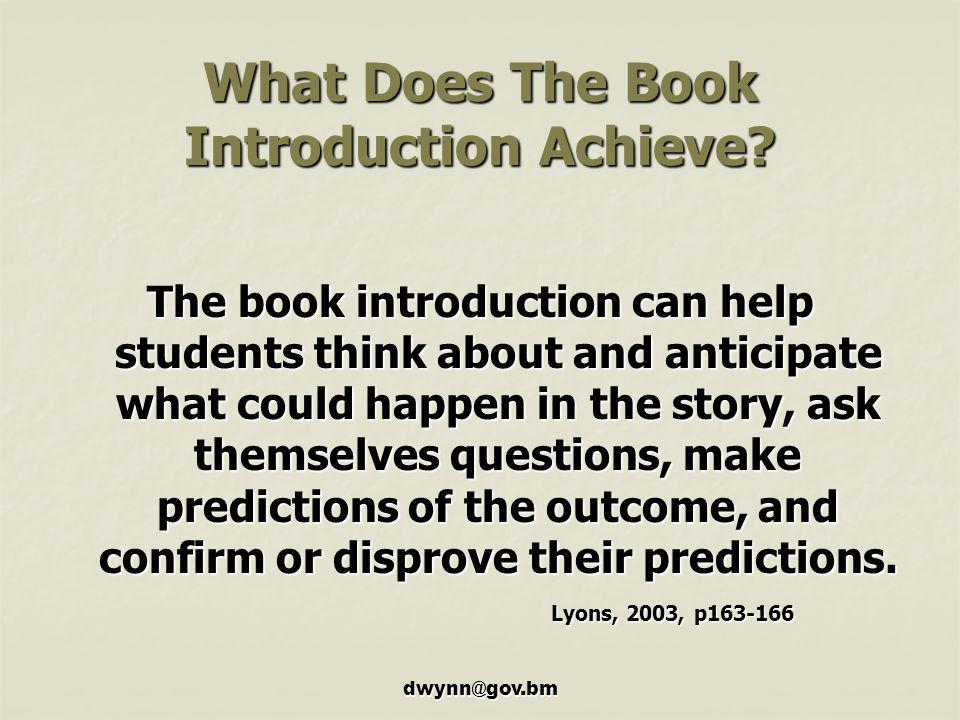 What Does The Book Introduction Achieve
