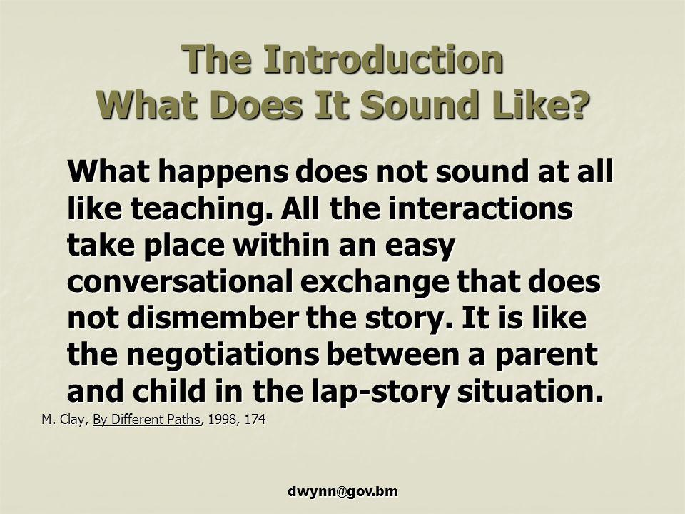 The Introduction What Does It Sound Like