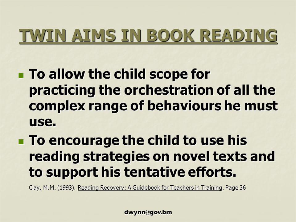 TWIN AIMS IN BOOK READING