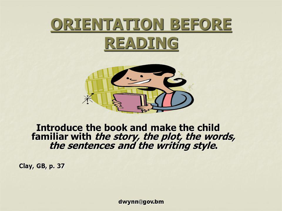 ORIENTATION BEFORE READING