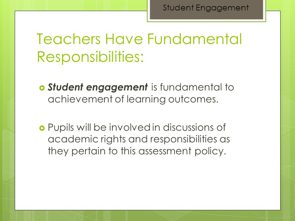 Teachers Have Fundamental Responsibilities: