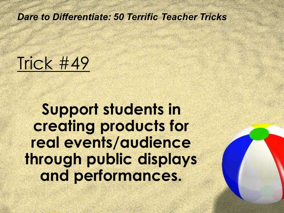 Dare to Differentiate: 50 Terrific Teacher Tricks