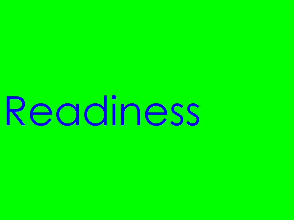 Readiness What does READINESS mean It is the student's entry point relative to a particular understanding or skill.