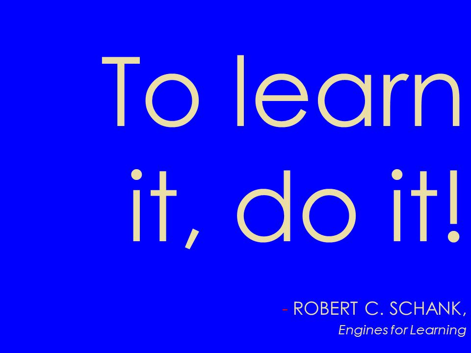 ROBERT C. SCHANK, Engines for Learning