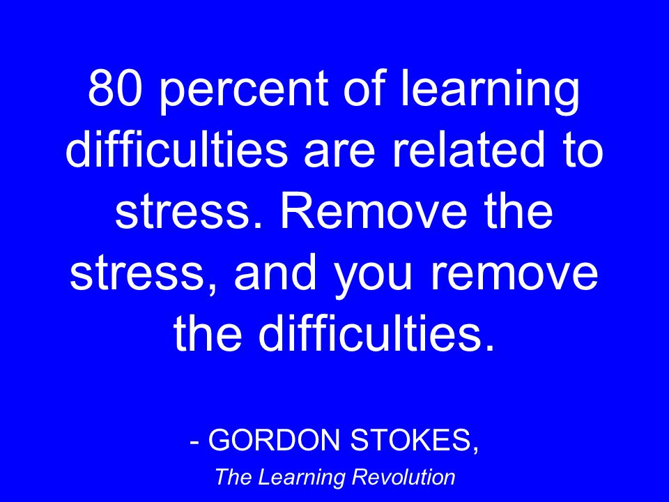 GORDON STOKES, The Learning Revolution