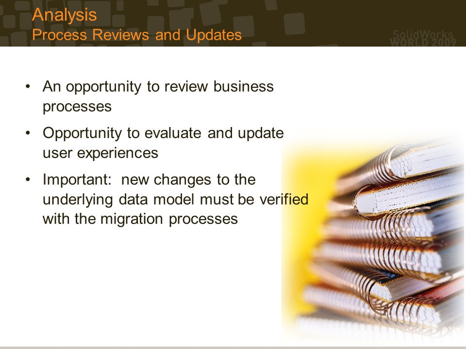 Analysis Process Reviews and Updates