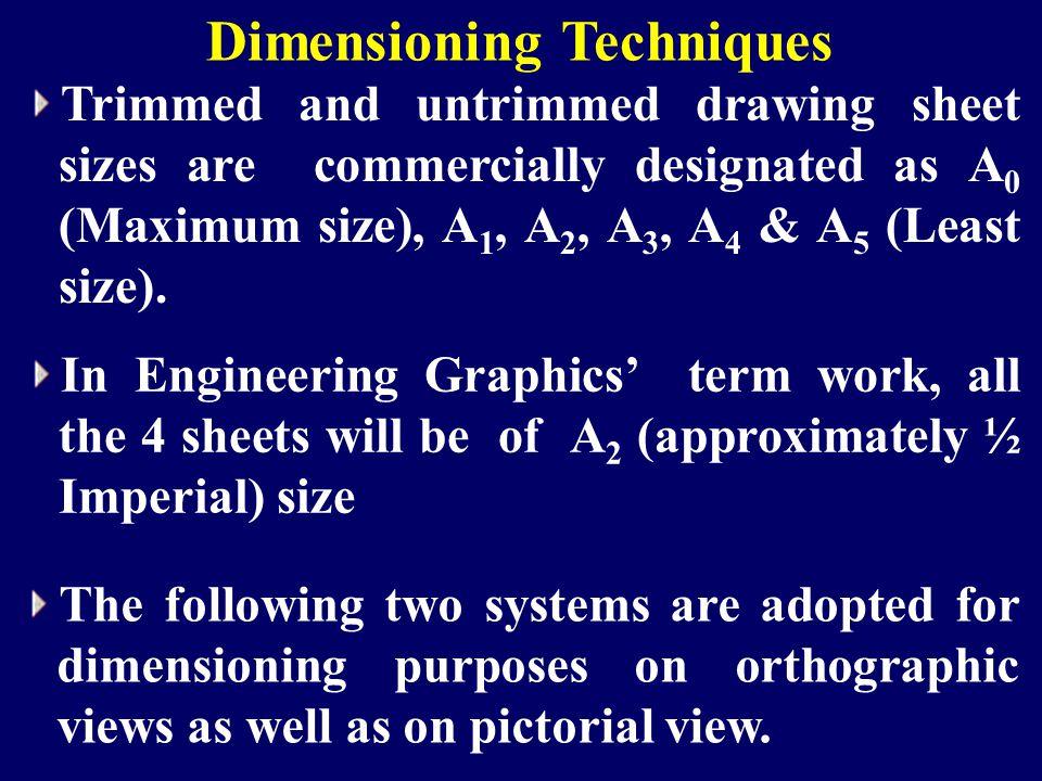 Dimensioning Techniques