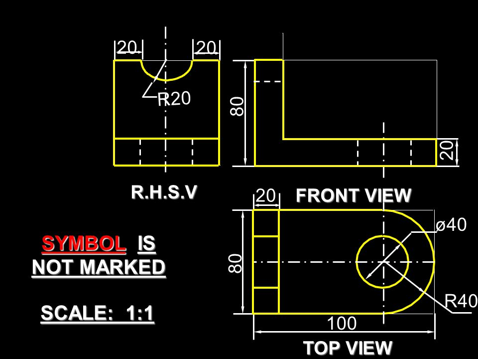SYMBOL IS NOT MARKED SCALE: 1:1