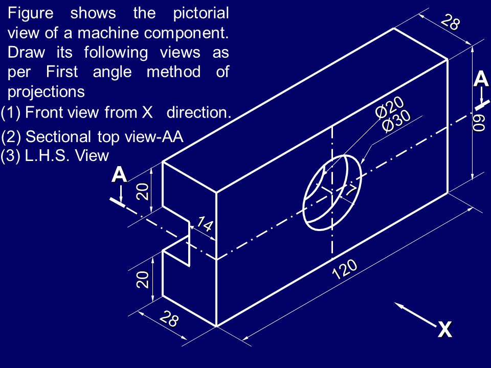 Figure shows the pictorial view of a machine component