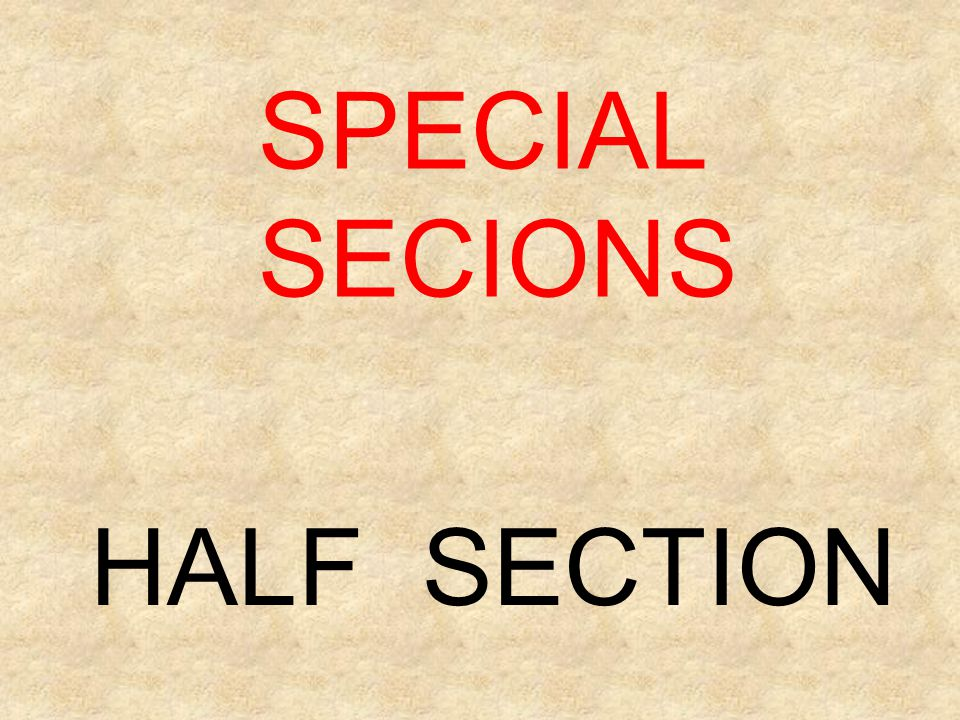 SPECIAL SECIONS HALF SECTION