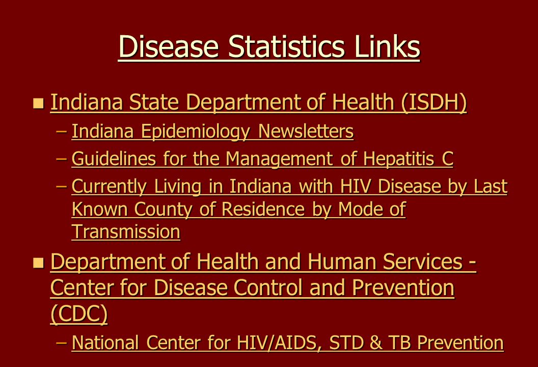 Disease Statistics Links