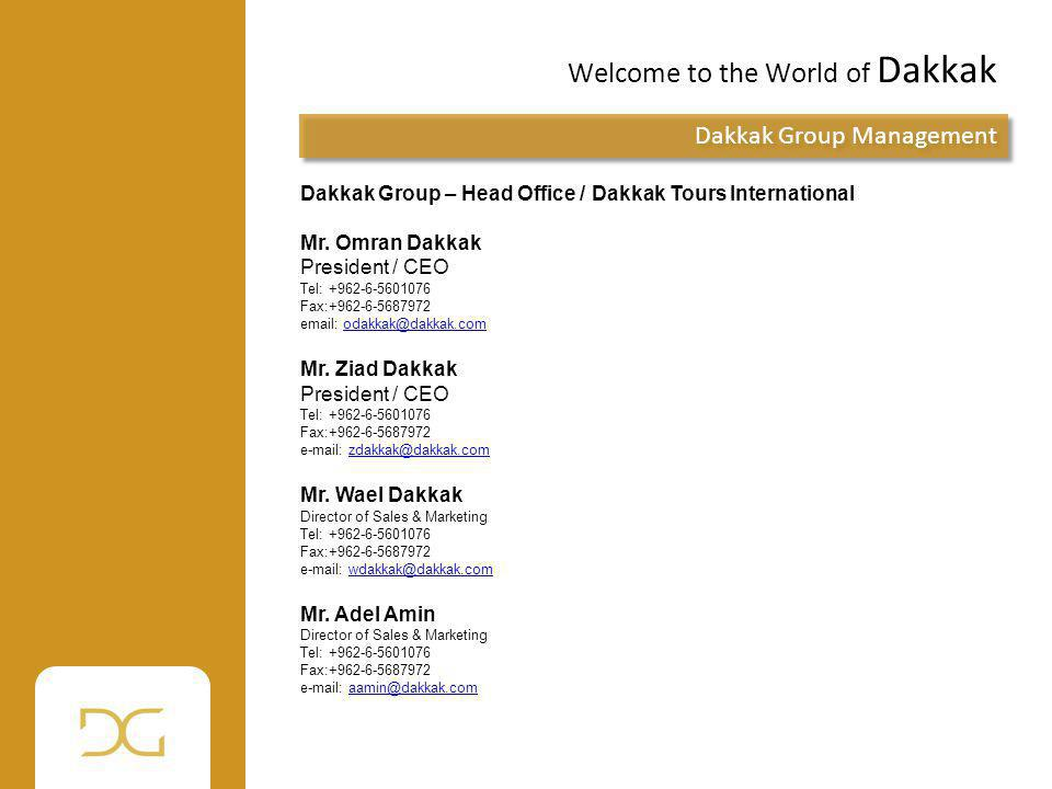 Welcome to the World of Dakkak