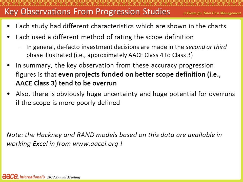Key Observations From Progression Studies