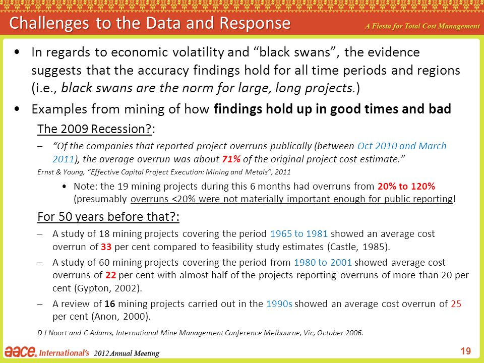 Challenges to the Data and Response
