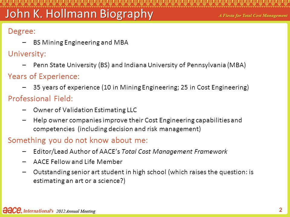 John K. Hollmann Biography