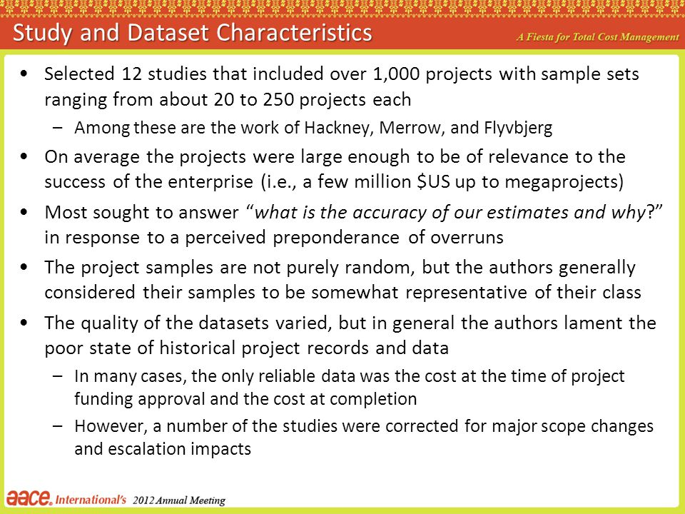 Study and Dataset Characteristics