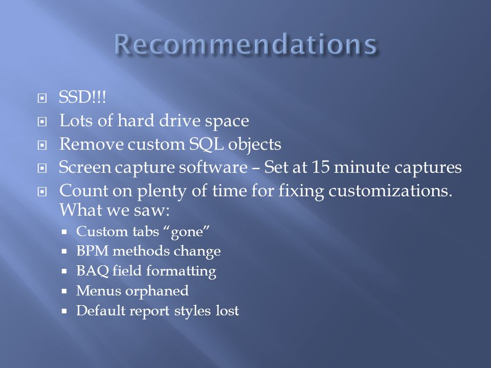 Recommendations SSD!!! Lots of hard drive space