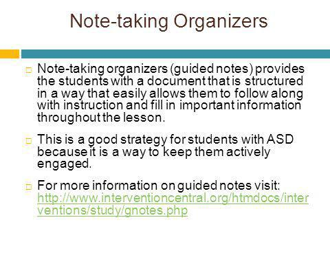 Note-taking Organizers