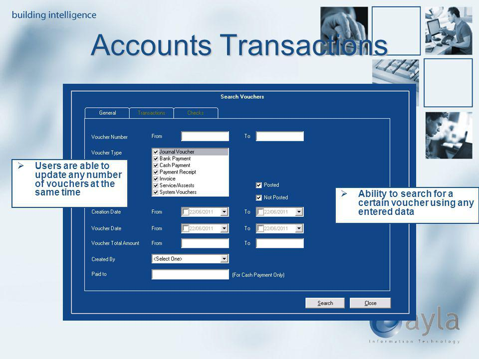 Accounts Transactions