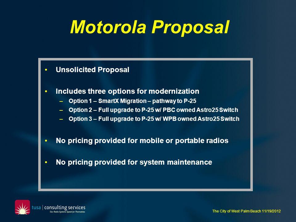 Motorola Proposal Unsolicited Proposal