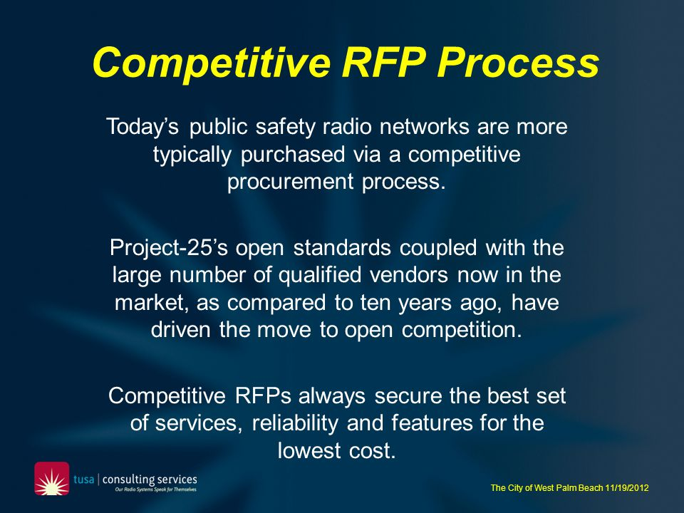 Competitive RFP Process