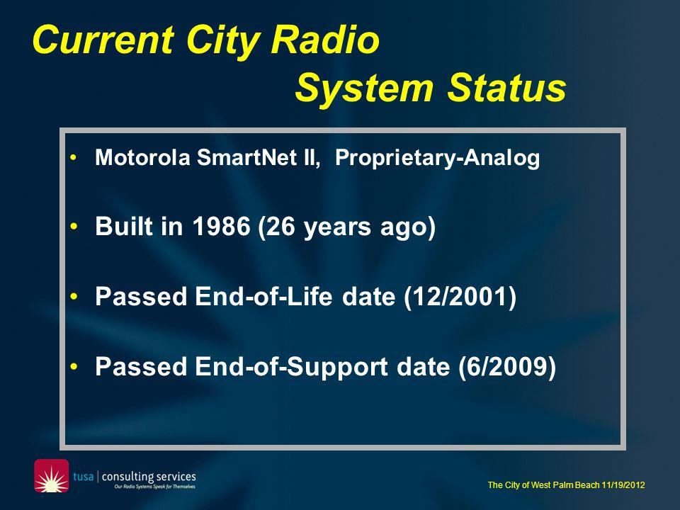 Current City Radio System Status