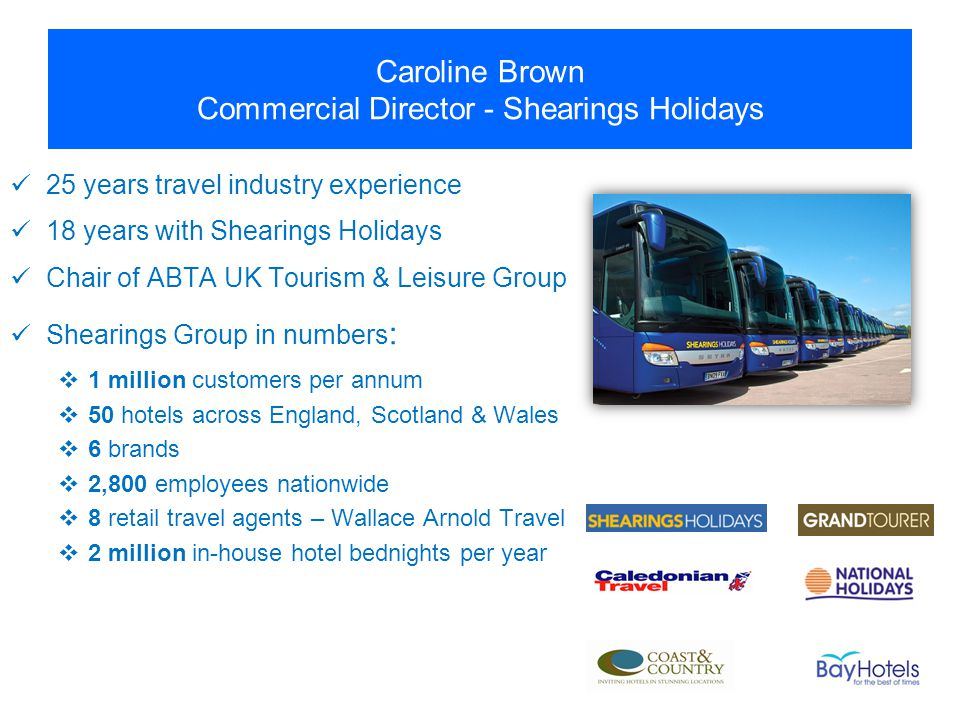 Caroline Brown Commercial Director - Shearings Holidays