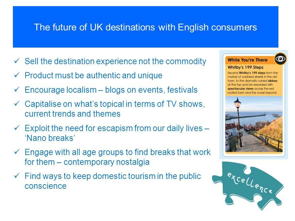 The future of UK destinations with English consumers