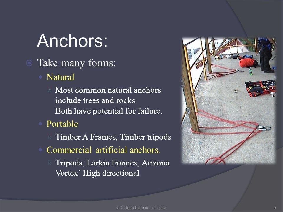 N.C. Rope Rescue Technician