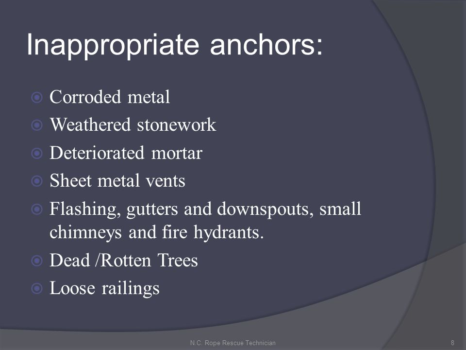 Inappropriate anchors: