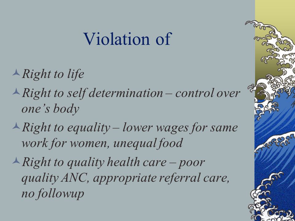 Violation of Right to life