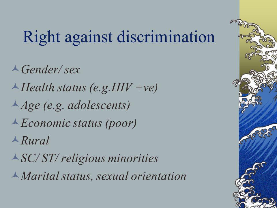 Right against discrimination