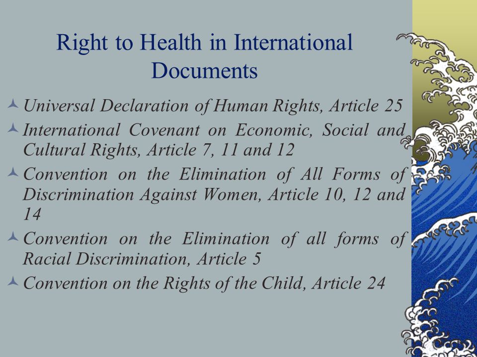Right to Health in International Documents