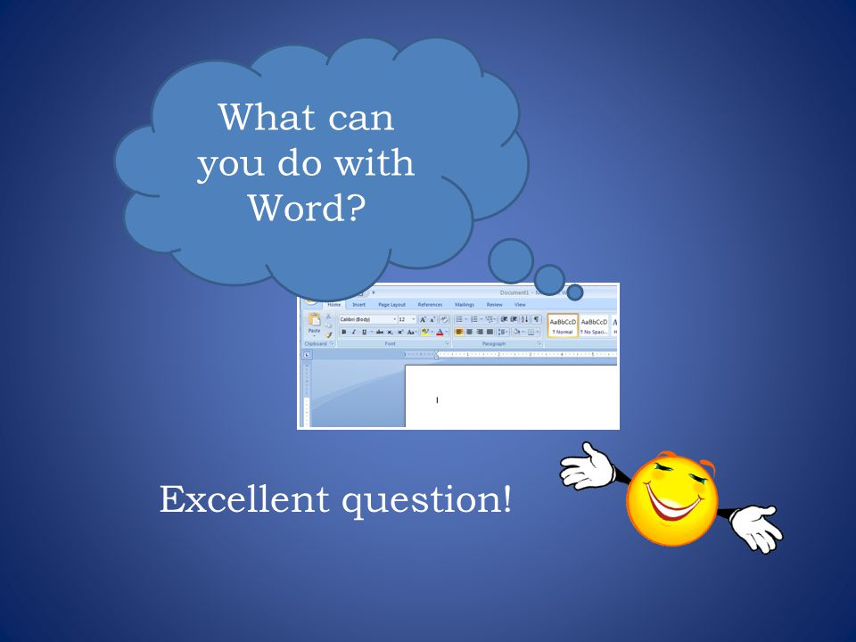 What can you do with Word