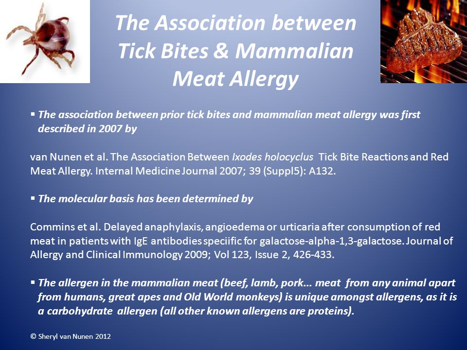 The Association between Tick Bites & Mammalian Meat Allergy
