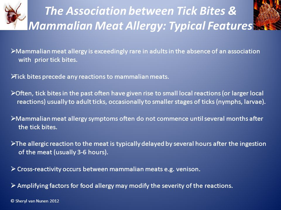 The Association between Tick Bites & Mammalian Meat Allergy: Typical Features