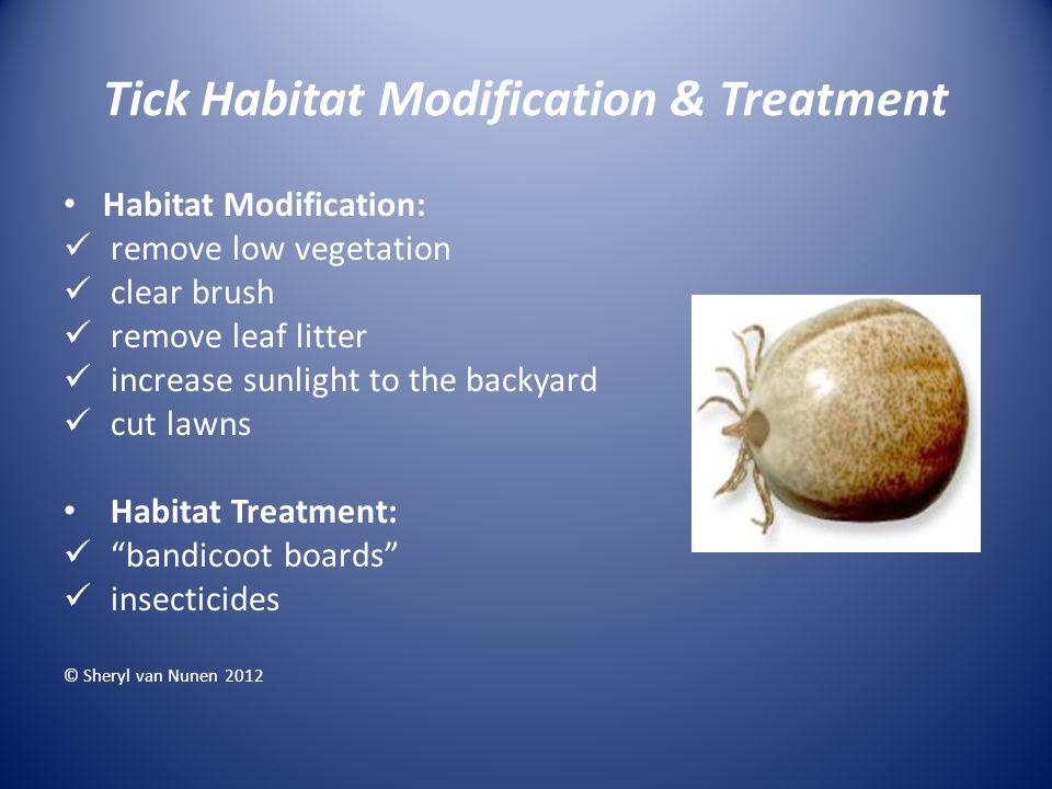 Tick Habitat Modification & Treatment