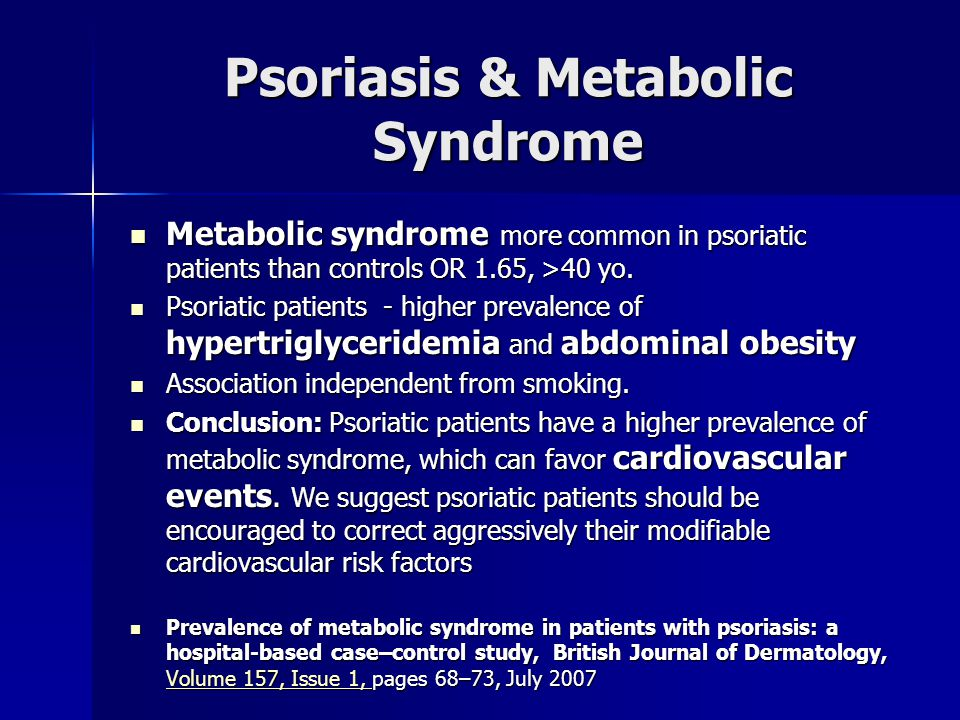 Psoriasis & Metabolic Syndrome